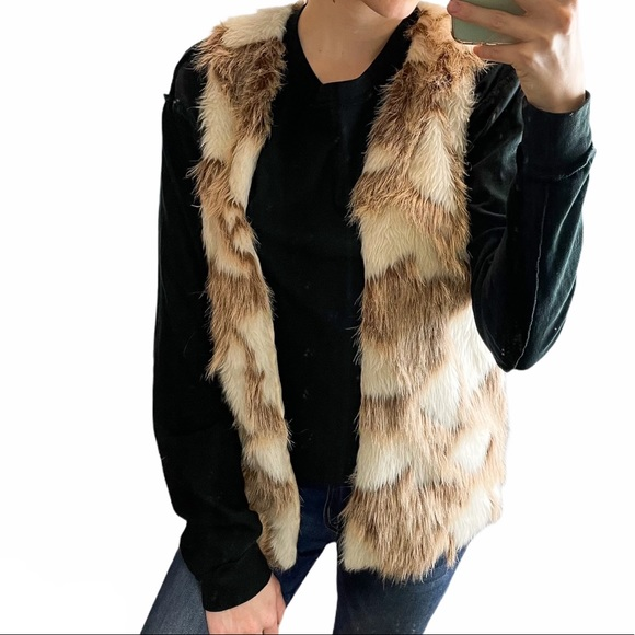 Decree Faux Fur Animal Print Vest